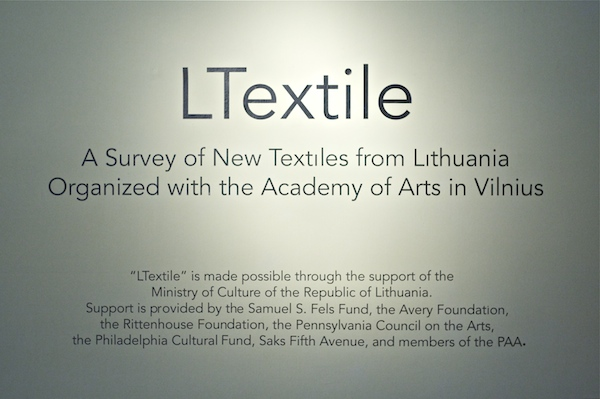 Philadelphia Lithuania textile exhibition