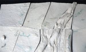 Paula Winokur, Aerial View: Glacier (Detail) (2015)