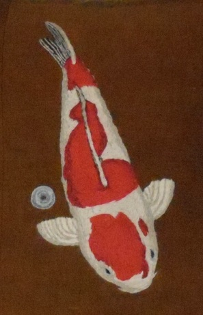 Red-and-White-Koi-with-Coin-1024x961