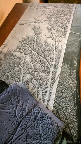 Silk scarves, from the artist's website.