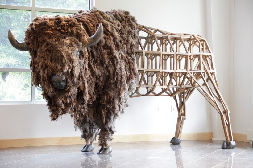 """Emily White, """"American Bison,"""" 2011."""